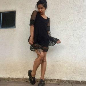Dresses & Skirts - Black Lace Babydoll Dress